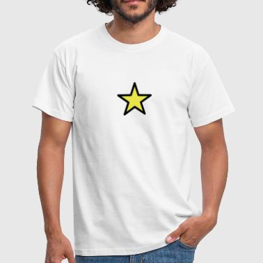 star outline 2c - Men's T-Shirt