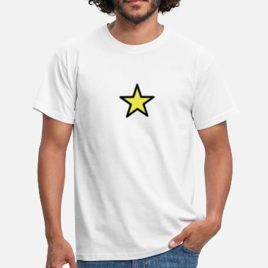 Sterren star outline 2c - T-shirt herr