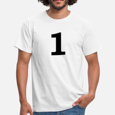 Number 1 number - 1 - one - Men's T-Shirt