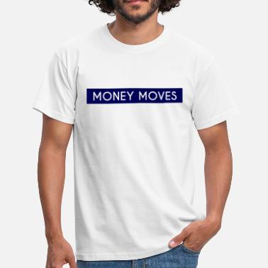 Money Motivated Money Moves Blue Box Motive - Men's T-Shirt