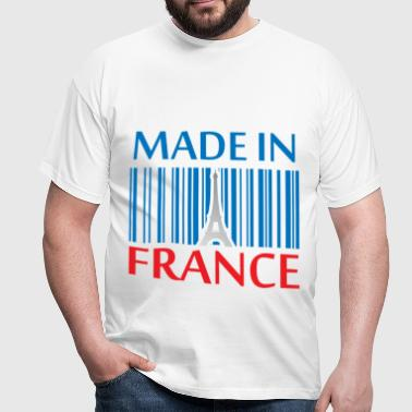France Bleu blanc rouge Made in France Eiffel  - T-shirt Homme
