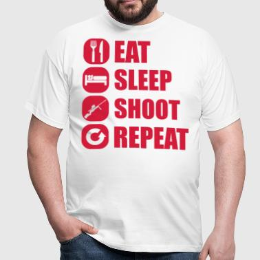 eat_sleep_weapon_repeat_6_1f - Men's T-Shirt