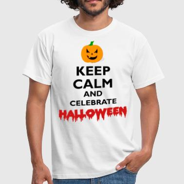KEEP CALM celebrate Halloween Motiv Weiss - Men's T-Shirt