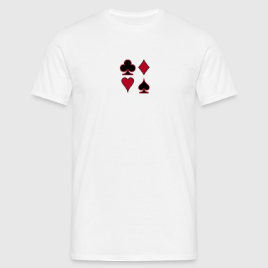 Poker Deck Dealer Trumpf Spielkarten Skat Canasta Solitaire  - Men's T-Shirt