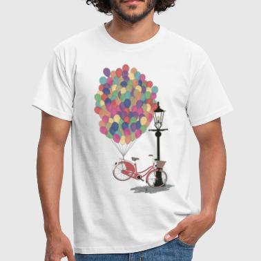Love to Ride my Bike with Balloons - T-shirt Homme