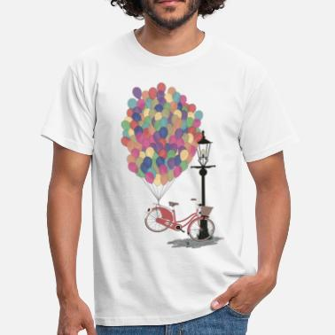 Frühling Love to Ride my Bike with Balloons - Männer T-Shirt