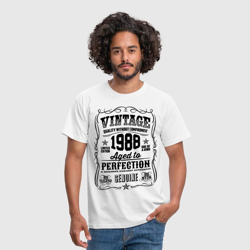 Vintage 1988 Aged to Perfection black - Men's T-Shirt
