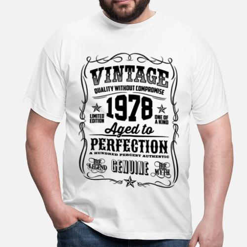 40 Year Old Man Gift Ideas Ftempo Source 1978 Vintage 40th Birthday Years By T Shirt Of The