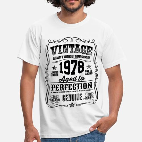 1978 Vintage 40th Birthday Gift 40 Years Old By T Shirt Of The Year