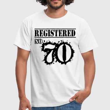 Registered No 70 - 46th Birthday - Men's T-Shirt