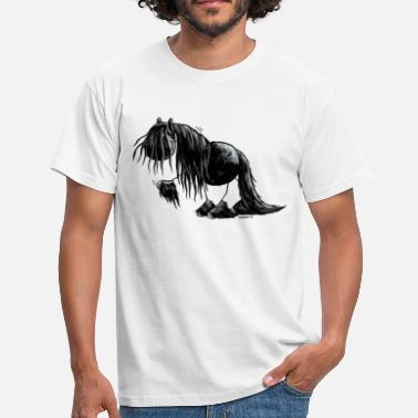 Pearl Black Pearl - Friesian Horse -  Cartoon  - Men's T-Shirt