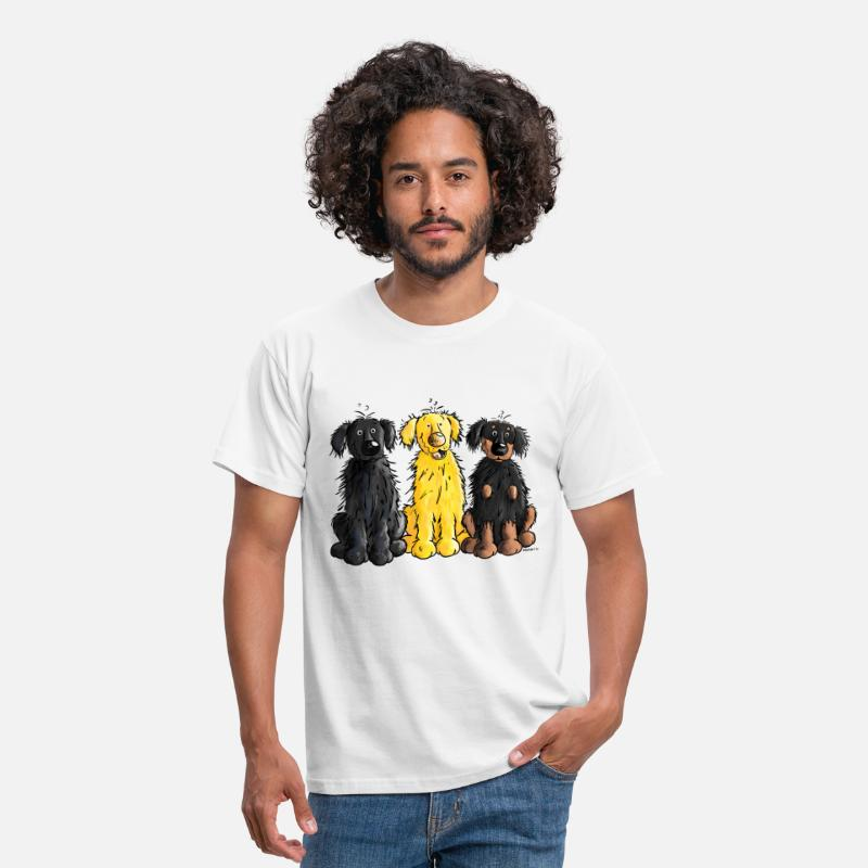 Comic T-Shirts - Hovawart – Hovi – Dog – Shirt Design - Men's T-Shirt white