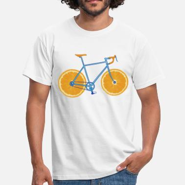 Orangen Bicycle ORANGE - Männer T-Shirt