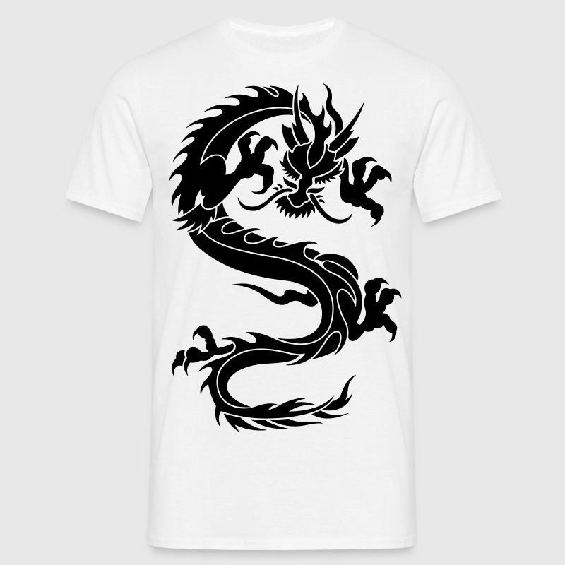 chinese dragon tribal - Camiseta hombre