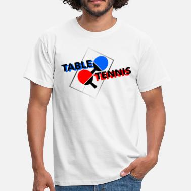 Table Soccer Table Tennis Geschenk - Männer T-Shirt