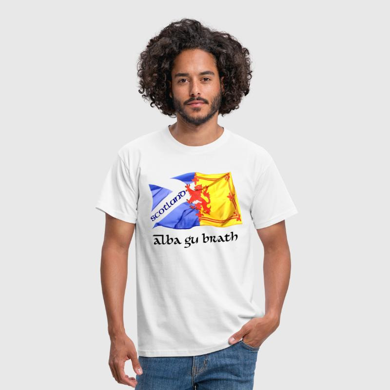 scotland saltire and lion rampant flag - Men's T-Shirt