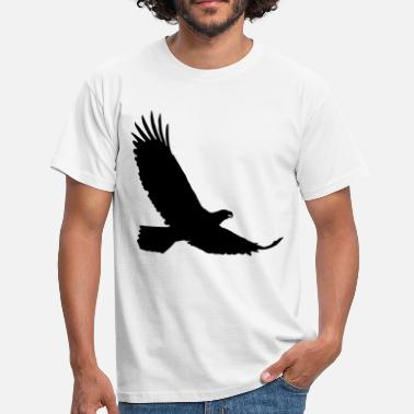 Silhuett eagle - T-skjorte for menn