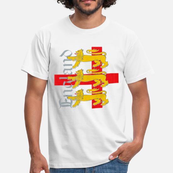 a2284681 England 3 Lions Men's T-Shirt   Spreadshirt