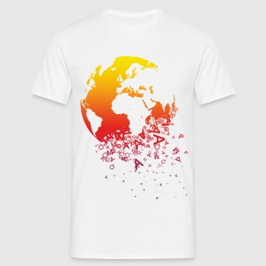 World dissolves - Men's T-Shirt