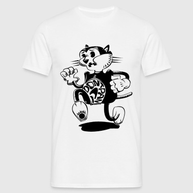 scaredy cat transparent - Men's T-Shirt