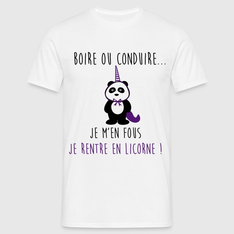 JE RENTRE EN LICORNE - humour - citations - T-shirt Homme