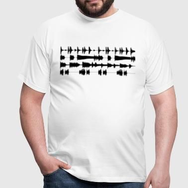 Black waveforms - Men's T-Shirt