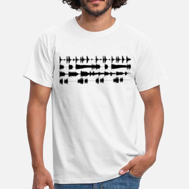 Clubbing Black waveforms - Men's T-Shirt