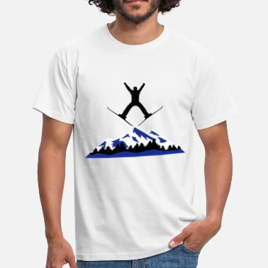 Ski Jumping ski and mountain, ski jumping - Men's T-Shirt