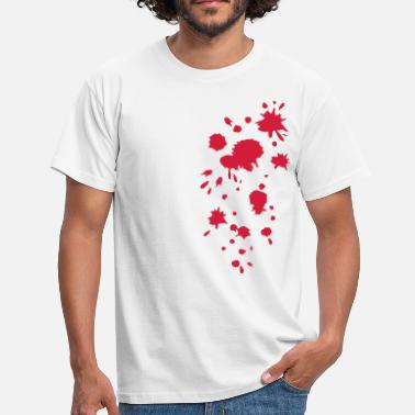 Blood Stained Blood, splatter, splash, stains, blob, Halloween - Men's T-Shirt