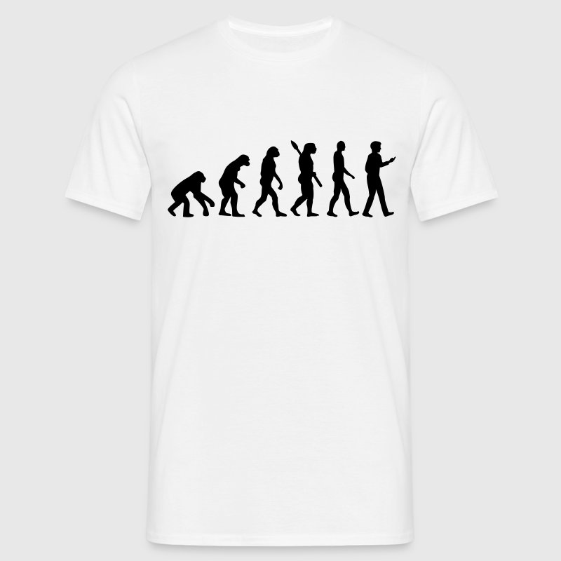 Evolution Handy Smartphone - Männer T-Shirt