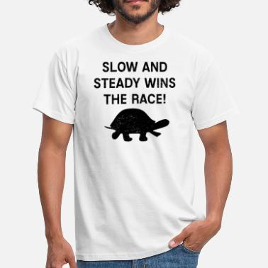 Slow Turtle Slow and leisurely turtle - Men's T-Shirt