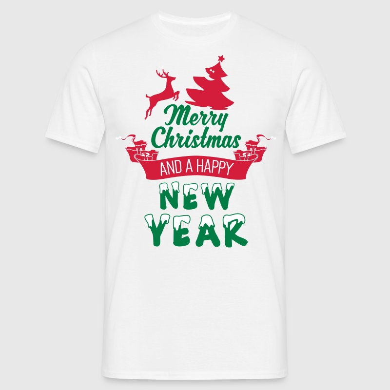 Merry Christmas and a Happy new Year - Camiseta hombre