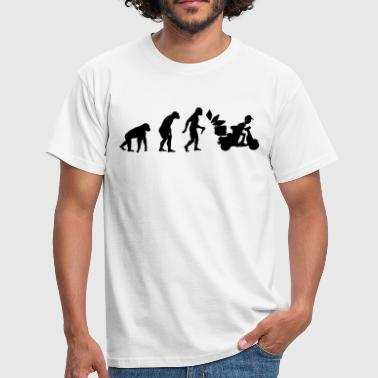 Pizza Delivery Man Evolution - Männer T-Shirt