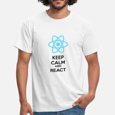Programmemer Keep calm and React - Men's T-Shirt