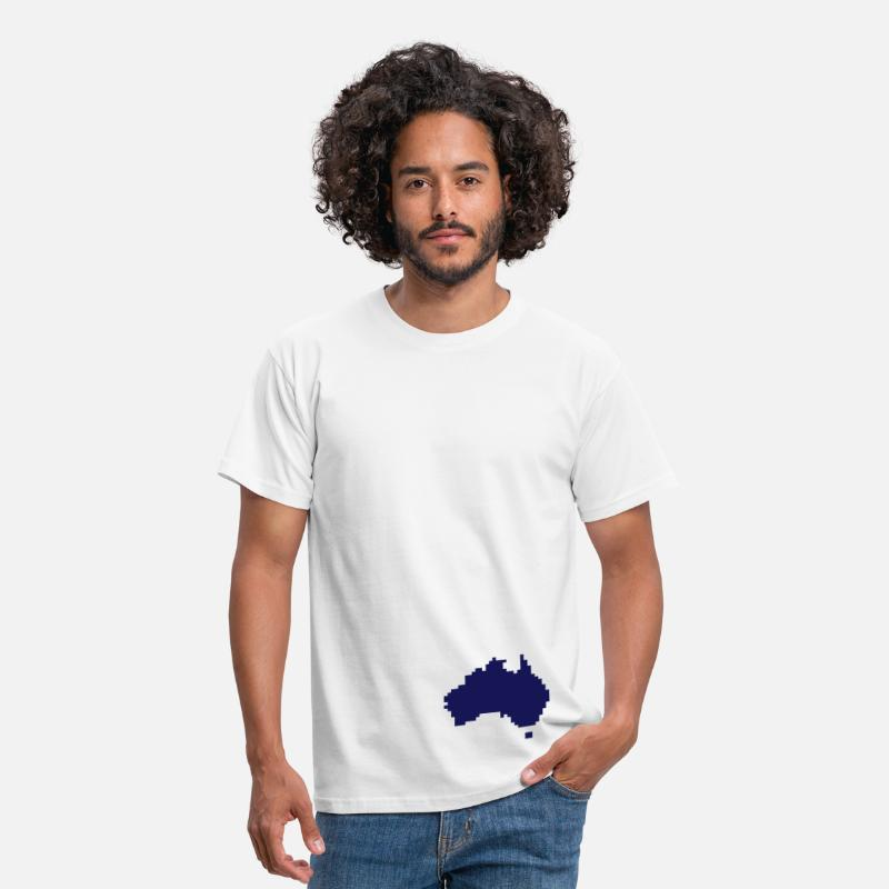 Fan T-Shirts - Australia pixel map - Men's T-Shirt white