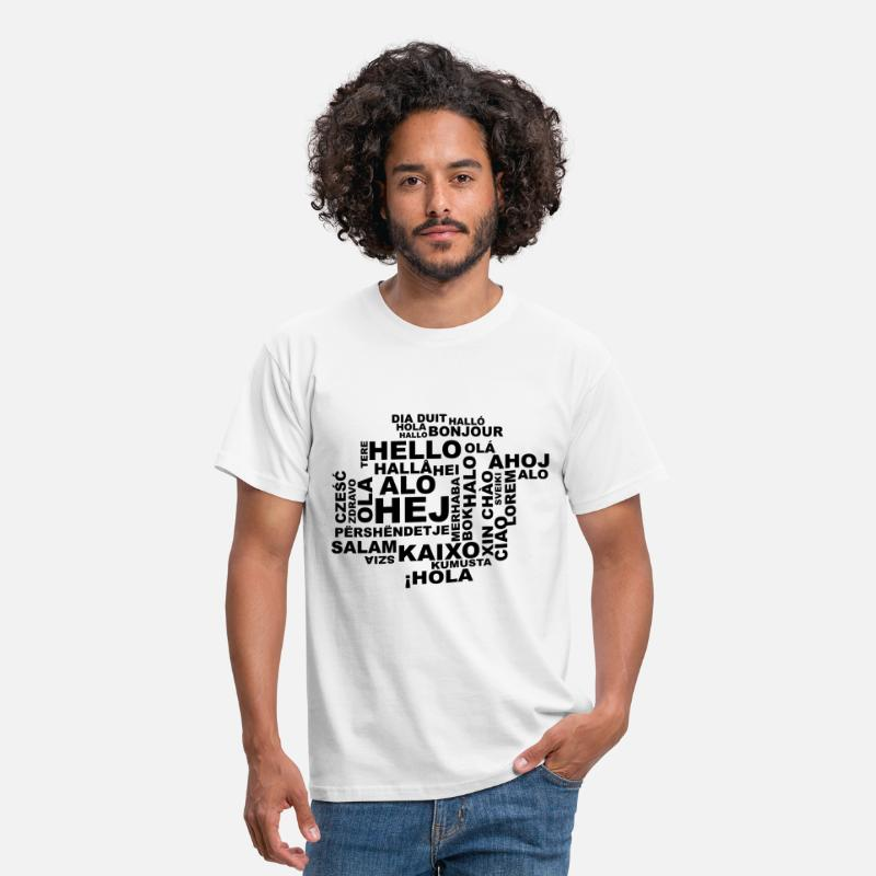 Hello T-Shirts - Hello in 29 languages - Men's T-Shirt white