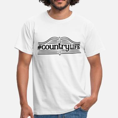 Milk Music Countrylife - Country Life - Nature - Village Child - Farmer - Men's T-Shirt