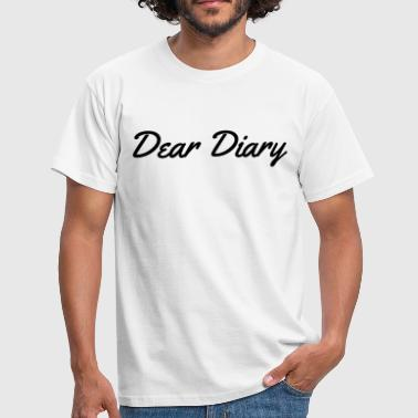 Dear Diary - Men's T-Shirt