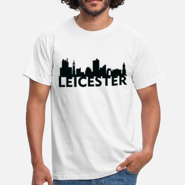 Leicestershire Leicester England Capital Skyline UK - Men's T-Shirt