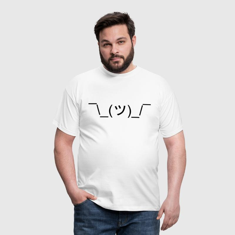 Funny Shrug Meme Text ¯\_(ツ)_/¯ - Men's T-Shirt