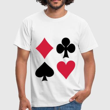 Poker - Cards - T-skjorte for menn