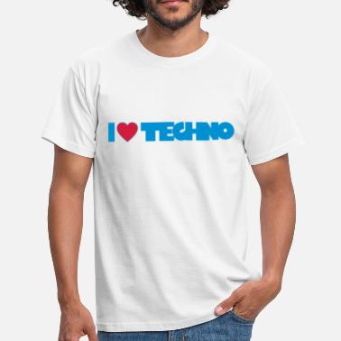 I Love Techno I love Techno - Männer T-Shirt