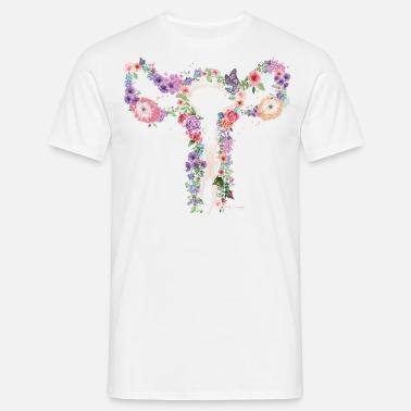 366a3d2b blomster livmoder Premium T-shirt mænd | Spreadshirt