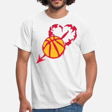 Persia basketball heart love persia fleche - Men's T-Shirt