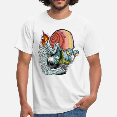 Motorcycle Mens' Shirt SpongeBob Snail - Men's T-Shirt