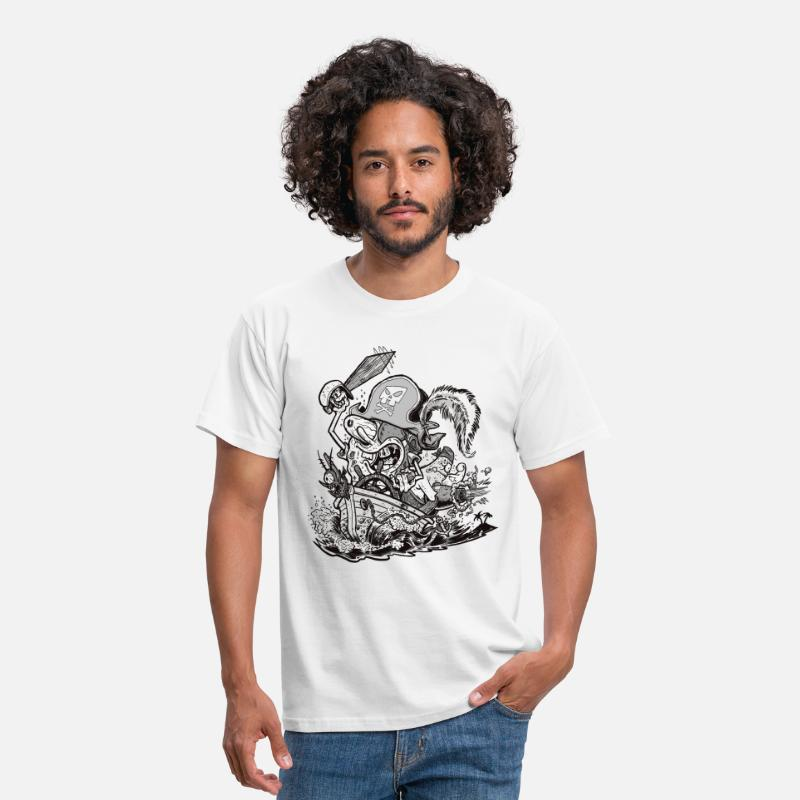 Pirate T-Shirts - Mens' Shirt Pirate SpongeBob - Men's T-Shirt white