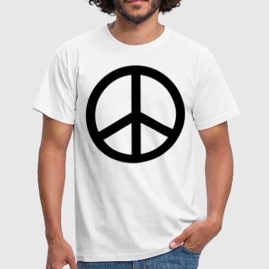 peace sign hippie - Herre-T-shirt
