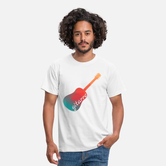Guitar Player T-Shirts - guitarist - Men's T-Shirt white
