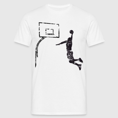 Basketball Dunking Vintage Used Look - Männer T-Shirt