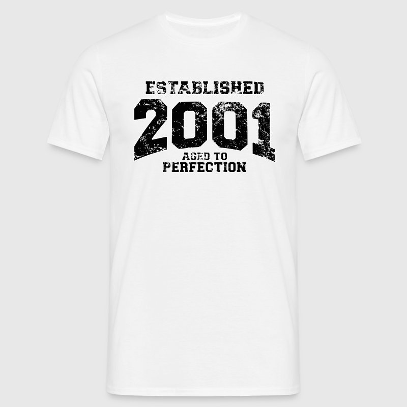 established 2001(uk) - Men's T-Shirt